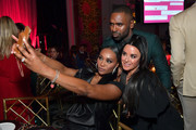 """(L-R) Cynthia Bailey, Justin Sylvester, and Kyle Richards attend WCRF's """"An Unforgettable Evening"""" at Beverly Wilshire, A Four Seasons Hotel on February 27, 2020 in Beverly Hills, California."""