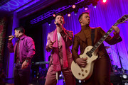 "(L-R) Joe Jonas, Nick Jonas, and Kevin Jonas of The Jonas Brothers perform onstage during WCRF's ""An Unforgettable Evening"" at Beverly Wilshire, A Four Seasons Hotel on February 27, 2020 in Beverly Hills, California."