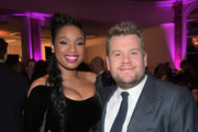 "Nat King Cole Award recipient Jennifer Hudson (L) and host James Corden attend WCRF's ""An Unforgettable Evening"" Presented by Saks Fifth Avenue on February 27, 2018 in Beverly Hills, California."