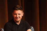 """Jeremy Renner speaks onstage at """"Wind River"""" special screening at SCADShow on November 29, 2017 in Atlanta, Georgia."""