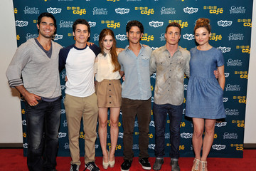 Crystal Reed Dylan O'Brien WIRED Cafe At Comic-Con - Day 1