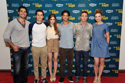 "(L-R) Actors Tyler Hoechlin, Dylan O'Brien, Holland Roden, Tyler Posey, Colton Haynes and Crystal Reed of ""Teen Wolf"" attend WIRED Cafe at Comic-Con held at Palm Terrace at the Omni Hotel on July 12, 2012 in San Diego, California."