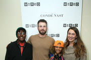 (L-R) Vic Barrett, Chris Evans, Levi Draheim and Kelsey Juliana attend the WIRED25 Summit 2019 - Day 2 at Commonwealth Club on November 09, 2019 in San Francisco, California.