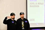 Joel Madden and Benji Madden attend WORLDZ Cultural Marketing Summit at Hollywood and Highland on August 1, 2017 in Los Angeles, California.