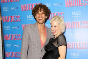 "Max Rogers and Kimberly Wyatt attend the ""Waitress"" media night at Adelphi Theatre on July 02, 2019 in London, England."