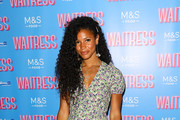 """Vick Hope attends the """"Waitress"""" media night at Adelphi Theatre on July 02, 2019 in London, England."""
