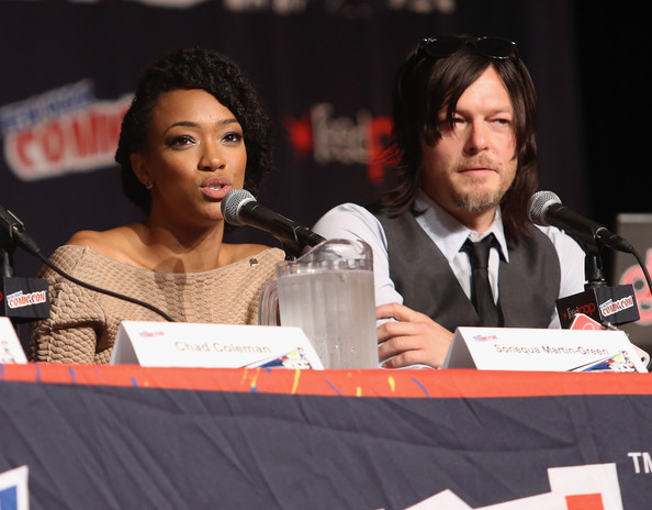 Sonequa Martin Green and norman reedus