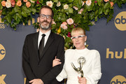 Patricia Arquette and Eric White arrive at the Walt Disney Television Emmy Party on September 22, 2019 in Los Angeles, California.