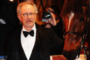 Director Steven Spielberg attends the UK premiere of War Horse at the Odeon Leicester Square on January 8, 2012 in London, England.