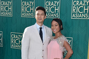 "Harry Shum Jr. and Shelby Rabara attend the premiere of Warner Bros. Pictures' ""Crazy Rich Asiaans"" at TCL Chinese Theatre IMAX on August 7, 2018 in Hollywood, California."