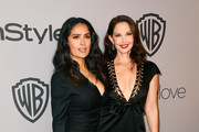Actors Salma Hayek (L) and Ashley Judd attend the 19th Annual Post-Golden Globes Party hosted by Warner Bros. Pictures and InStyle at The Beverly Hilton Hotel on January 7, 2018 in Beverly Hills, California.