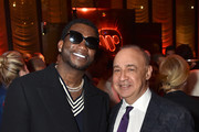 Gucci Mane (L) and Len Blavatnik attend the Warner Music Group Pre-Grammy Party in association with V Magazine on January 25, 2018 in New York City.