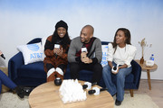 """Alexis Chikaeze, Kendrick Sampson and Nicole Beharie of """"Miss Juneteenth"""" are seen at WarnerMedia Lodge: Elevating Storytelling with AT&T during Sundance Film Festival 2020 on January 24, 2020 in Park City, Utah."""
