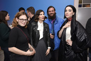 "Rachel Rosenbloom, Carrie Brownstein, Drew Connick and St. Vincent stop by ""The Nowhere Inn"" Premiere Party at WarnerMedia Lodge: Elevating Storytelling with AT&T presented by Topic Studios during Sundance Film Festival 2020 on January 26, 2020 in Park City, Utah."