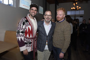 """Justin Mikita, David France and Jesse Tyler Ferguson stop by HBO Films' """"Welcome to Chechnya """"Premiere Party at WarnerMedia Lodge: Elevating Storytelling with AT&T during Sundance Film Festival 2020 on January 25, 2020 in Park City, Utah."""
