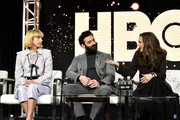 (L-R) Zoe Kazan, Morgan Spector and Winona Ryder of 'The Plot Against America' appear onstage during the HBO segment of the 2020 Winter Television Critics Association Press Tour at The Langham Huntington, Pasadena on January 15, 2020 in Pasadena, California. 697450