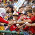 Bryce Harper Photos - Bryce Harper #34 of the Washington Nationals signs autographs before the game against the Pittsburgh Pirates at PNC Park on July 24, 2015 in Pittsburgh, Pennsylvania. - Washington Nationals v Pittsburgh Pirates