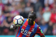 Mamadou Sakho of Palace in action during the Premier League match between Watford and Crystal Palace at Vicarage Road on April 21, 2018 in Watford, England.