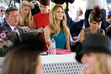 Wayne Cooper Jennifer Hawkins Headlines Myer Fashions On The Field Randwick