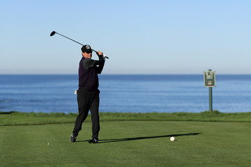Wayne Gretzky AT&T Pebble Beach Pro-Am - Round One