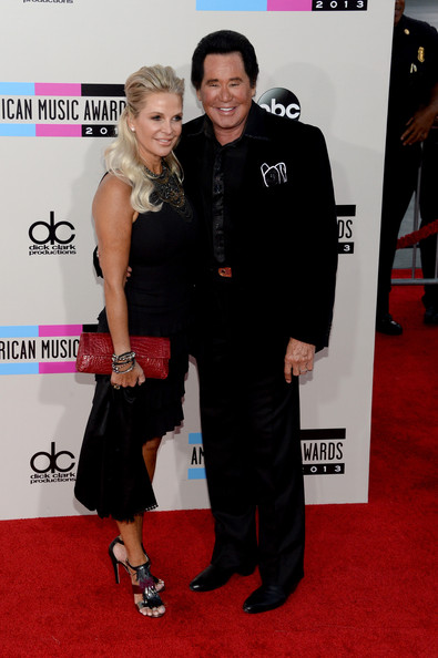 Arrivals at the American Music Awards — Part 3 [red carpet,carpet,little black dress,flooring,premiere,event,dress,muscle,arrivals,wayne newton,kathleen mccrone,r,american music awards,los angeles,california,nokia theatre l.a. live]