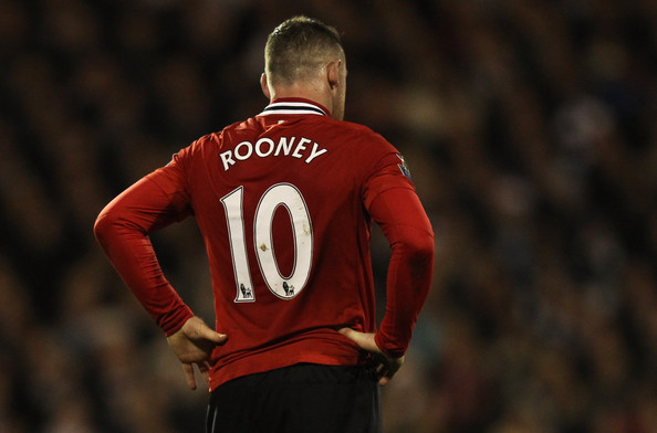 Wayne Rooney Number 9 Wayne Rooney Wayne Rooney of Manchester United wears the number