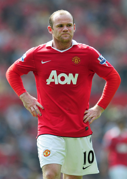 Wayne Rooney Wayne Rooney of Manchester United looks dejected during the Barclays Premier League match between Manchester United and Everton at Old Trafford on April 23, 2011 in Manchester, England.