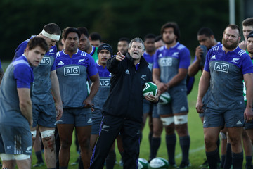 Wayne Smith New Zealand All Blacks Training Session and Press Conference