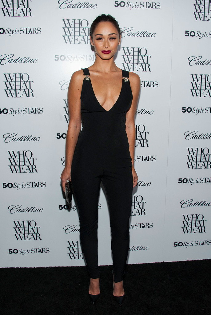 Actress  Cara Santana arrives at the Who What Wear And Cadillac's 50 Most Fashionable Women Of 2013 Event at The London Hotel on October 24, 2013 in West Hollywood, California.