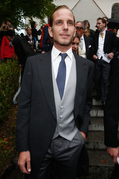 Andrea Casiraghi attends the Wedding of Princess Maria Theresia von Thurn und Taxis and Hugo Wilson on September 13, 2014 in Tutzing, Germany.