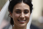 Alessandra de Osma smiles after the wedding of Prince Christian of Hanover and  Alessandra de Osma at Basilica San Pedro on March 16, 2018 in Lima, Peru.