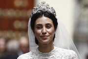 Alessandra de Osma walks out of the church after the wedding of Prince Christian of Hanover and  Alessandra de Osma at Basilica San Pedro on March 16, 2018 in Lima, Peru.