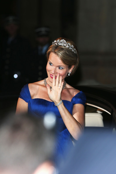 Princess Mathilde of Belgium attends the Gala dinner for the wedding of Prince Guillaume Of Luxembourg and Stephanie de Lannoy at the Grand-ducal Palace on October 19, 2012 in Luxembourg, Luxembourg. The 30-year-old hereditary Grand Duke of Luxembourg is the last hereditary Prince in Europe to get married, marrying his 28-year old Belgian Countess bride in a lavish 2-day ceremony.