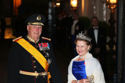 King Harald V of Norway and Queen Sonja of Norway attend the Gala dinner for the wedding of Prince Guillaume Of Luxembourg and Stephanie de Lannoy at the Grand-ducal Palace on October 19, 2012 in Luxembourg, Luxembourg. The 30-year-old hereditary Grand Duke of Luxembourg is the last hereditary Prince in Europe to get married, marrying his 28-year old Belgian Countess bride in a lavish 2-day ceremony.