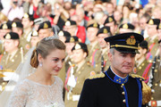 Princess Stephanie of Luxembourg and her brother Count Jehan de Lannoy arrive at the wedding ceremony of Prince Guillaume Of Luxembourg and Princess Stephanie of Luxembourg at the Cathedral of our Lady of Luxembourg on October 20, 2012 in Luxembourg, Luxembourg. The 30-year-old hereditary Grand Duke of Luxembourg is the last hereditary Prince in Europe to get married, marrying his 28-year old Belgian Countess bride in a lavish 2-day ceremony.