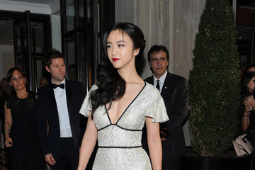 Wei Tang Met Gala 2015 Departures From The Mark Hotel - NYC