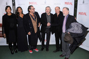 """(L-R) Grace Hightower, screenwriter Rula Jebreal, Director Julian Schnabel, actor Robert DeNiro, producer Jon Kilik and media personality Dick Cavett attend the premiere of Julian Schnabel's """"Miral"""" hosted by The Weinstein Company and His Excellency Mr. Joseph Deiss, President of the 65th session of the United Nations General Assembly at United Nations General Assembly Hall on March 14, 2011 in New York City."""