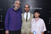 Directors Phillip Noyce, Jon Goldman and Satsuki Okawa arrive to The Weinstein Company and Lexus Present Lexus Short Films at The Regal Cinemas L.A. Live on July 30, 2014 in Los Angeles, California.