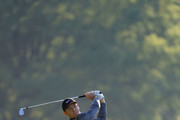 Rory McIlroy of Northern Ireland plays a shot on the 11th hole during the first round of the 2018 Wells Fargo Championship at Quail Hollow Club on May 3, 2018 in Charlotte, North Carolina.