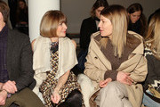 Anna Wintour and Virginia Smith attend Wes Gordon runway show during MADE Fashion Week Fall 2015 at Milk Studios on February 13, 2015 in New York City.