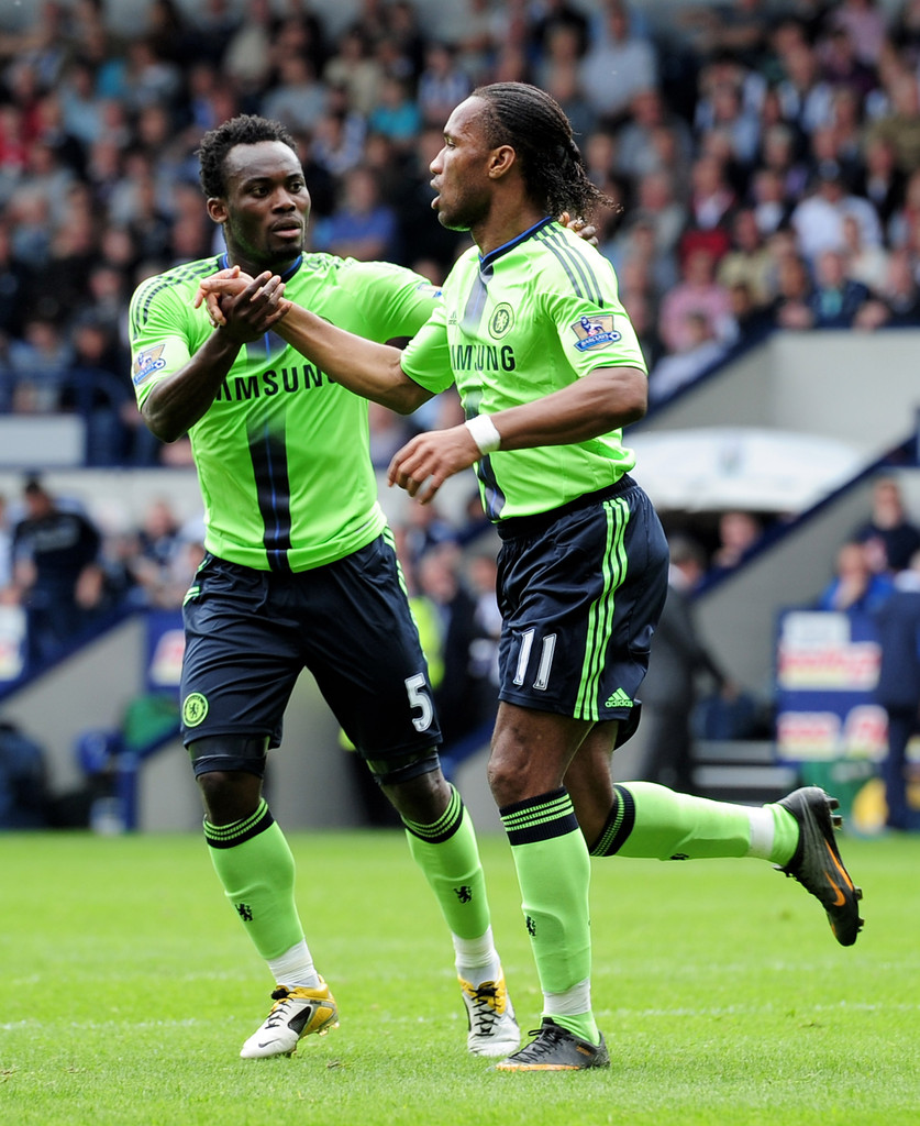 Di r Drogba and Michael Essien s s West Bromwich