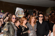 """(L-R) Actor Johnny Depp, musician Natalie Maines of the Dixie Chicks, Producer Lorri Davis, Director/Producer Amy Berg and producer/documentary subject Damien Echols attend the """"West Of Memphis"""" premiere during the 2012 Toronto International Film Festival at Ryerson Theatre on September 8, 2012 in Toronto, Can"""