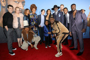 "(L-R) Max Greenfield, Wendi McLendon-Covey, Tamala Jones, Phoebe Robinson, Josh Brener, Taraji P. Henson, Richard Roundtree, Shane Paul McGhie, Aldis Hodge, Erykah Badu, Auston Jon Moore and Tracy Morgan attend the U.S. Premiere of ""What Men Want"" in partnership with CÃŽROC and presented by Paramount Pictures, Paramount Players, BET Films and Will Packer Productions at the Regency Village Theatre on January 28, 2019 in Los Angeles, California. (Photo by Rachel Murray/Getty Images for Paramount Pictures"
