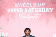 Russell Wilson at Wheels Up members-only Super Saturday Tailgate event on February 1, 2020 in Wynwood, Miami. The seventh-annual event featured a chalk talk hosted by prominent figures in sports and entertainment and interactive partnership activations.