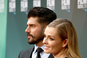 """Producer Andrew Levitas and wife Katherine Jenkins attend the UK Premiere of """"The White Crow"""" & Create Gala at the 62nd BFI London Film Festival on October 18, 2018 in London, England."""