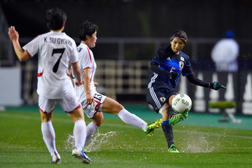 Wi Jongsim Japan v North Korea - AFC Women's Olympic Final Qualification Round