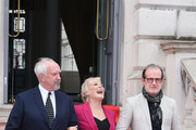 (L-R) Jonathan Pryce, Glenn Close and Director Bjorn Runge attend the UK Premiere of 'The Wife' at Somerset House on August 9, 2018 in London, England.