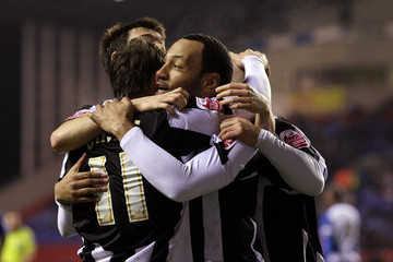Karl Hawley Wigan v Notts County - FA Cup 4th Round Replay