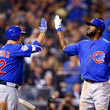 Dexter Fowler and Kyle Schwarber Photos