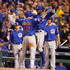 Dexter Fowler Kyle Schwarber Photos - Kyle Schwarber #12 of the Chicago Cubs celebrates with Dexter Fowler #24 of the Chicago Cubs after hitting a two-run home run in the third inning during the National League Wild Card game between the Pittsburgh Pirates and the Chicago Cubs at PNC Park on October 7, 2015 in Pittsburgh, Pennsylvania. - Wild Card Game - Chicago Cubs v Pittsburgh Pirates